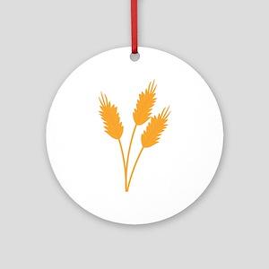 Wheat Stalk Ornament (Round)