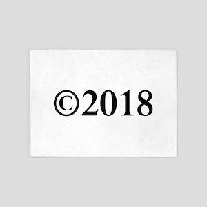 Copyright 2018-Tim black 5'x7'Area Rug