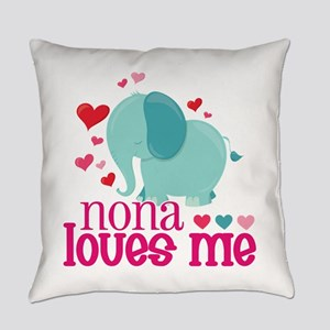 Nona Loves Me - Elephant Everyday Pillow