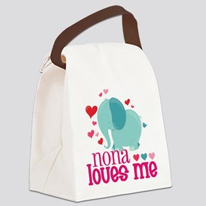 Nona Loves Me - Elephant Canvas Lunch Bag