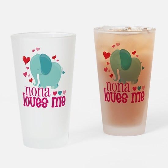 Nona Loves Me - Elephant Drinking Glass