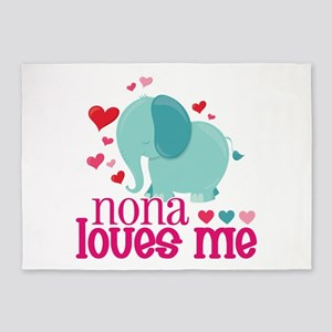 Nona Loves Me - Elephant 5'x7'Area Rug