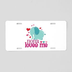 Nona Loves Me - Elephant Aluminum License Plate