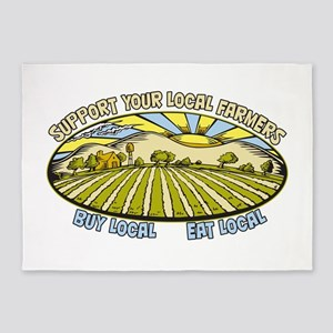 Support Your Local Farmers 5'x7'Area Rug