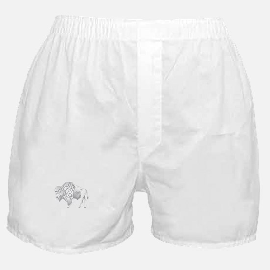 White Buffalo Boxer Shorts