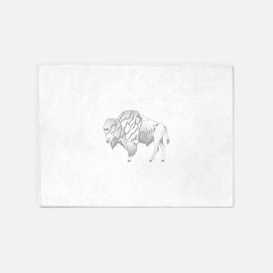 White Buffalo 5'x7'Area Rug