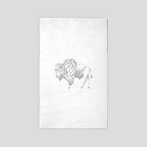White Buffalo Area Rug
