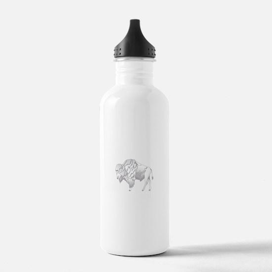 White Buffalo Water Bottle