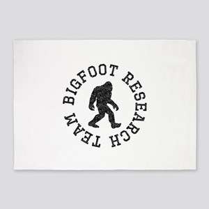 Bigfoot Research Team (Distressed) 5'x7'Area Rug