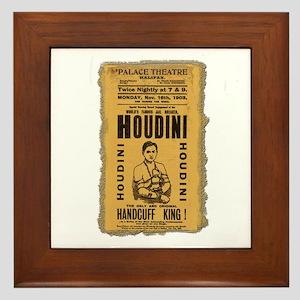 Vintage Houdini Poster Framed Tile