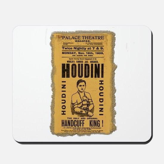 Vintage Houdini Poster Mousepad