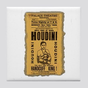 Vintage Houdini Poster Tile Coaster