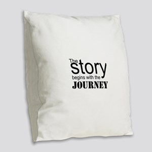 The Journey Burlap Throw Pillow