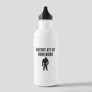 Bigfoot Ate My Homework (Distressed) Water Bottle