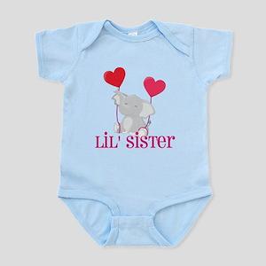 Little Sister Elephant Infant Bodysuit