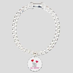 Little Sister Elephant Charm Bracelet, One Charm