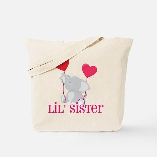 Little Sister Elephant Tote Bag