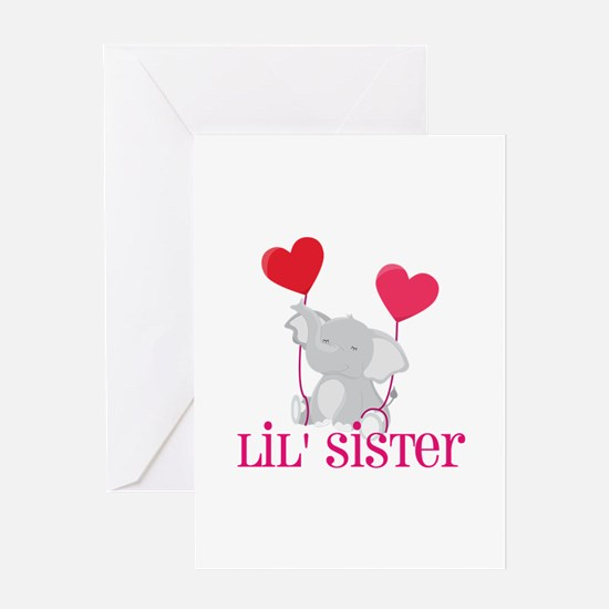 Little Sister Elephant Greeting Card