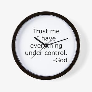 Trust Me... God Wall Clock