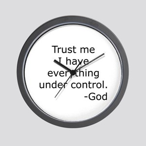 Trust Me... God Wall Clock