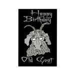 Old Goat B-day 4 Him Rectangle Magnet (100 pack)