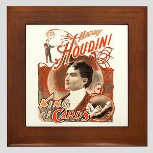 Retro Harry Houdini Poster Framed Tile