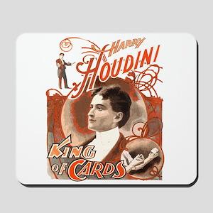 Retro Harry Houdini Poster Mousepad
