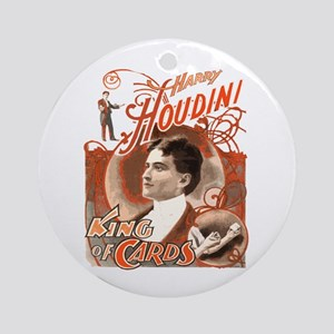 Retro Harry Houdini Poster Ornament (Round)