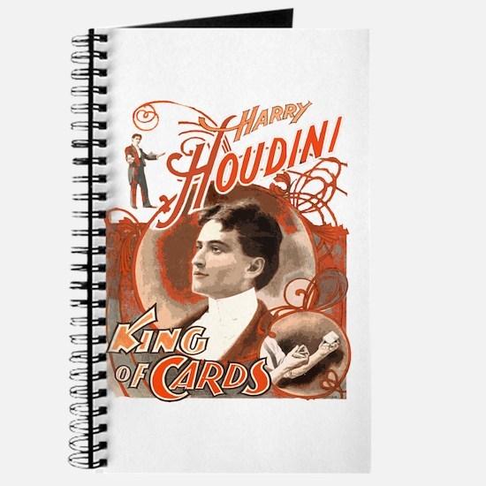 Retro Harry Houdini Poster Journal