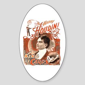 Retro Harry Houdini Poster Oval Sticker
