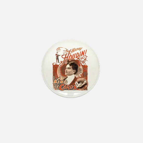 Retro Harry Houdini Poster Mini Button