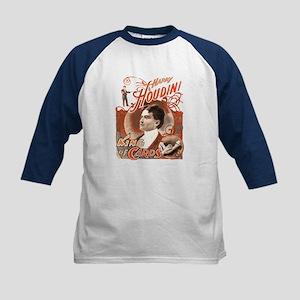 Retro Harry Houdini Poster Kids Baseball Jersey
