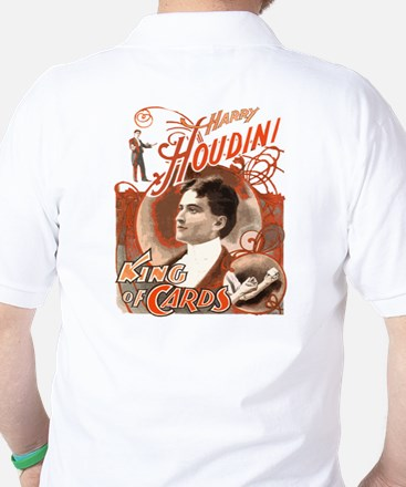 Retro Harry Houdini Poster Golf Shirt