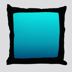 trendy girly ombre Throw Pillow