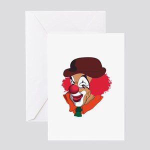 Clown Face Greeting Cards