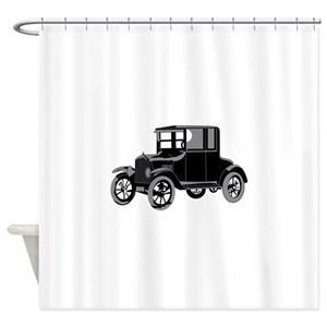 Model T Classic Car Shower Curtains