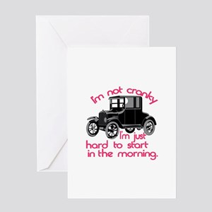 Im Not Cranky Greeting Cards