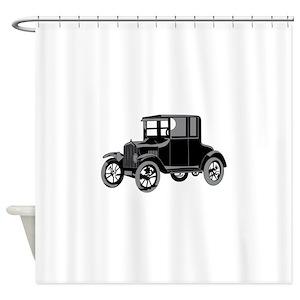 Vintage Car Model Shower Curtains