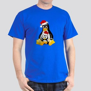 Merry Christmas Penguins Dark T-Shirt