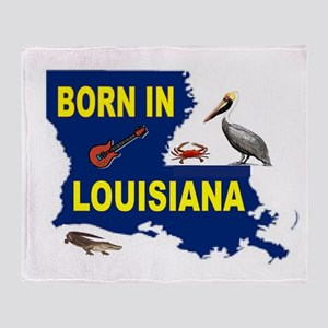 LOUISIANA BORN Throw Blanket