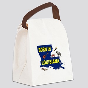 LOUISIANA BORN Canvas Lunch Bag
