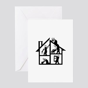 Building Logo Greeting Cards