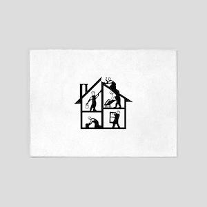 Building Logo 5'x7'Area Rug