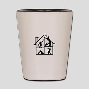 Building Logo Shot Glass