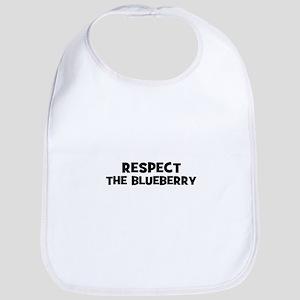 respect the blueberry Bib