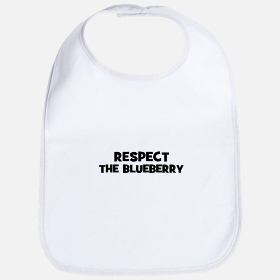respect the blueberry Bib