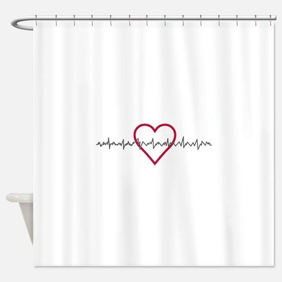 Heartbeat Shower Curtain