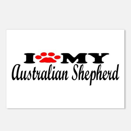 Australian Shepherd - I Love My Postcards (Package