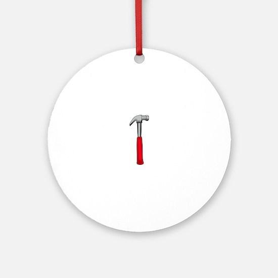 Hammer Ornament (Round)