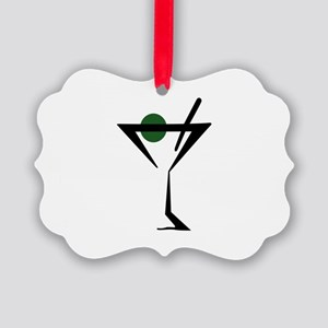 Abstract Martini Glass Ornament